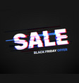 shopping sale banner black friday offer vector image