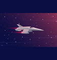 small spaceship flying in vector image vector image