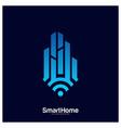 smart city tech logo city net logo concept wifi vector image vector image
