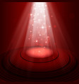 spotlight on stage vector image