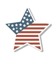 star with usa flag icon vector image vector image