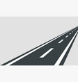 straight road template isolated on background vector image vector image