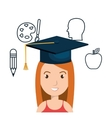 student and supplies design vector image