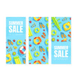 summer sale banner templates set shop now vector image vector image