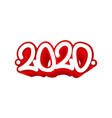 tag 2020 year graffiti tag template for your vector image vector image