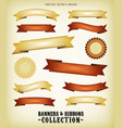 vintage banners and ribbons set vector image vector image