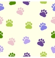 dog paws pattern print trace color vector image