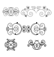LeSet of elements vector image