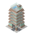 Isometric skyscaper building vector image