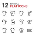 12 t icons vector image vector image