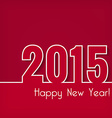 2015 Happy New Year design over red background vector image vector image