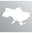 3d map of Ukraine vector image