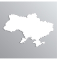 3d map ukraine vector image