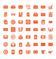 49 letter icons vector image vector image