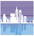 Abstract Cityscape silhouette vector image vector image