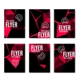 Abstract technology polygonal flyer set Modern vector image vector image