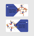 athletic coach business card vector image vector image