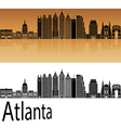 Atlanta V2 skyline in orange vector image vector image