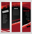 automotive tire banner vector image vector image