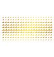 bar chart golden halftone matrix vector image vector image