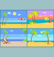 beach and seascapes collection vector image vector image