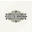 Beautiful floral monogram design vector image vector image