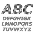 black and white alphabet vector image vector image