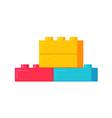 building plastic toy bricks or child blocks vector image
