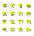 chat icons vector image vector image