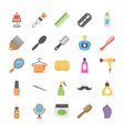 collection of hair salon equipment flat icons vector image vector image