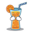 crying cocktail character cartoon style vector image vector image