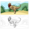Dinosaur for coloring book vector image