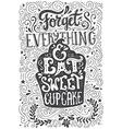 Eat Cupcake vector image vector image