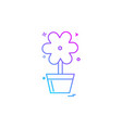 flower pot icon design vector image
