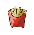 French fries sketch for your design vector image vector image