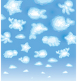 funny clouds vector image vector image