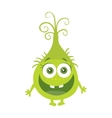 Funny Smiling Germ Green Cartoon Character vector image vector image