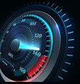 futuristic sports car speedometer abstract speed vector image vector image