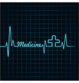Heartbeat make medicine word and plus symbol vector image vector image