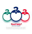 help and support question mark web template vector image