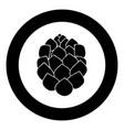 hop icon black color in circle vector image