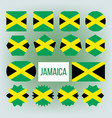jamaica flag collection figure icons set vector image