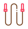 jump rope icon outline vector image