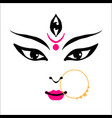 kali goddess in hinduism her face on white vector image