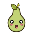 kawaii cartoon pear vector image vector image