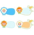 Little Happy Chamomille Baby vector image vector image