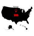 map of the us state of kansas vector image vector image