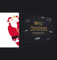 merry christmas santa rings in the bell vector image