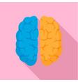mind brain icon flat style vector image