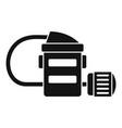 mine flashlight icon simple style vector image vector image